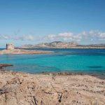Spiaggia della Pelosa provincia di Sassari in Sardegna