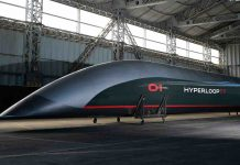 Modello di treno ad alta velocità Hyperloop