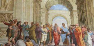 L'affresco di Raffaello La scuola di Atene conservato nei Musei Vaticani
