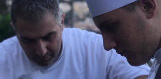 Lo Chef Michele De Blasio al lavoro