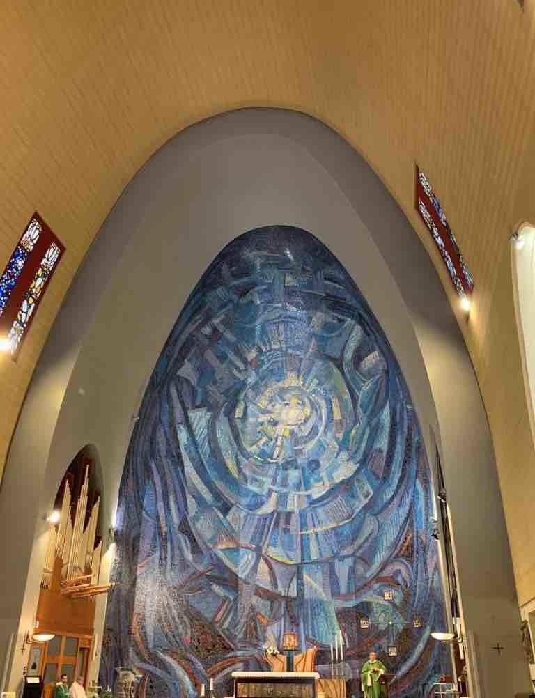 Terminillo: il mosaico con 50.000 tasselli del 1975