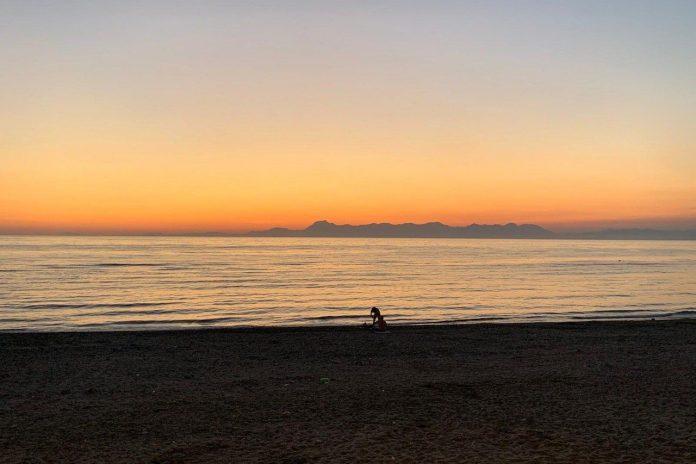 Agropoli: il tramonto dal lungomare