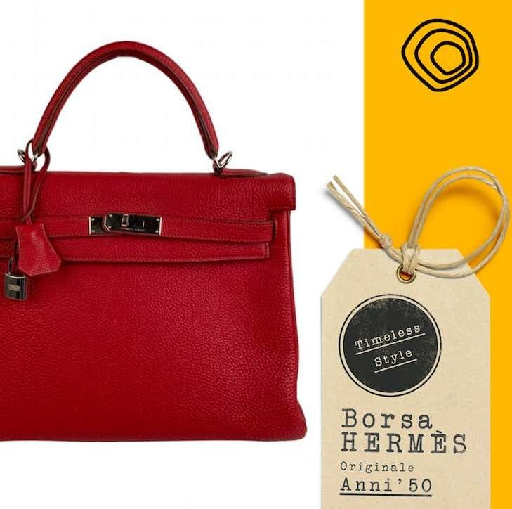 Vintage, una borsa Hermes degli anni 50
