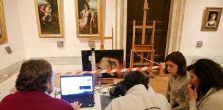 Raffaello, il gruppo di ricerca al lavoro sul dipinto Fornarina con lo scanner made in Italy