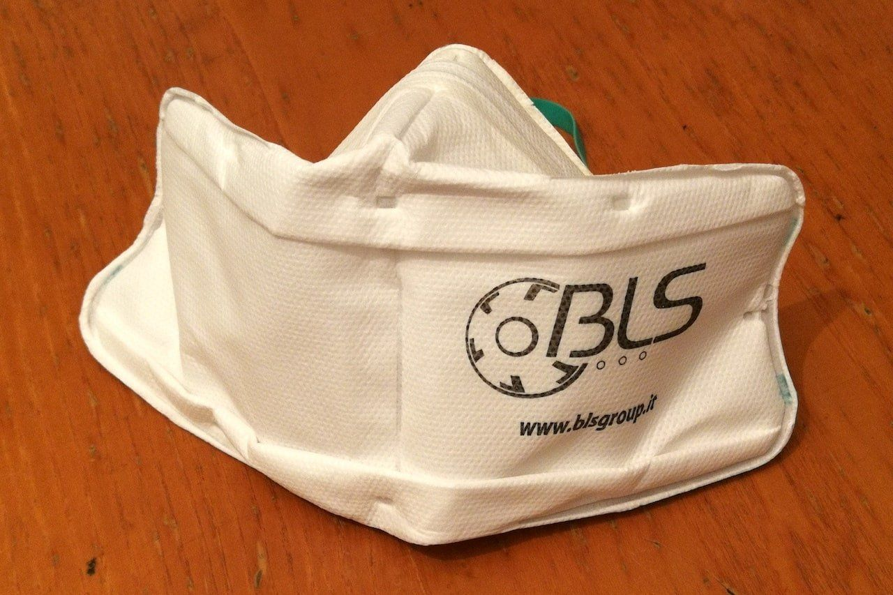Mascherina ffp2 dell'azienda Bls
