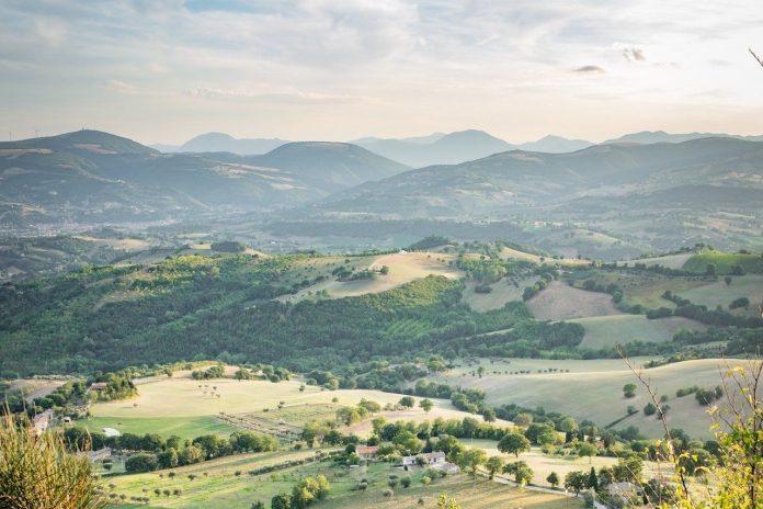 Marche, panorama di San Severino in provincia di Macerata
