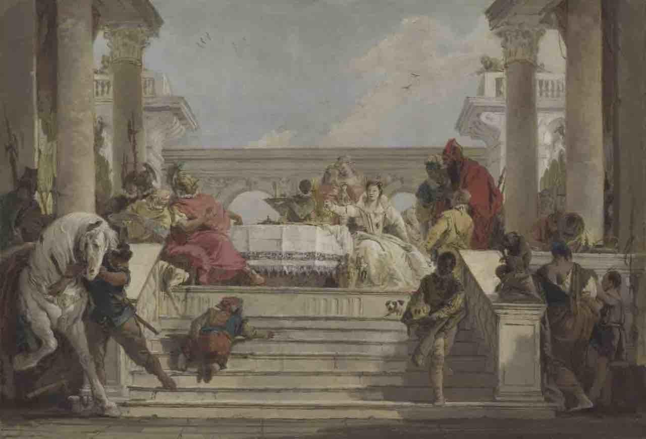 """Tiepolo, """"Banchetto di Antonio e Cleopatra"""""""