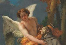 """Tiepolo, particolare di """"San Francesco d'Assisi riceve le stimmate"""""""
