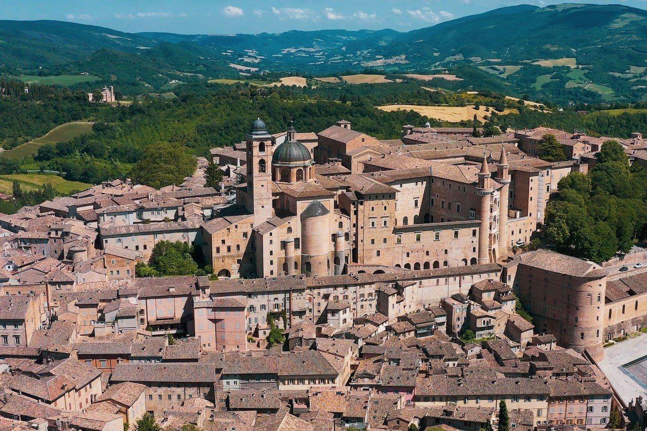 Marche, panorama di Urbino