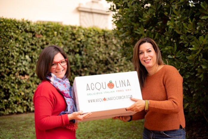 Firenze, Elvira Limongelli e Miriam Medelle con il box di Acquolina