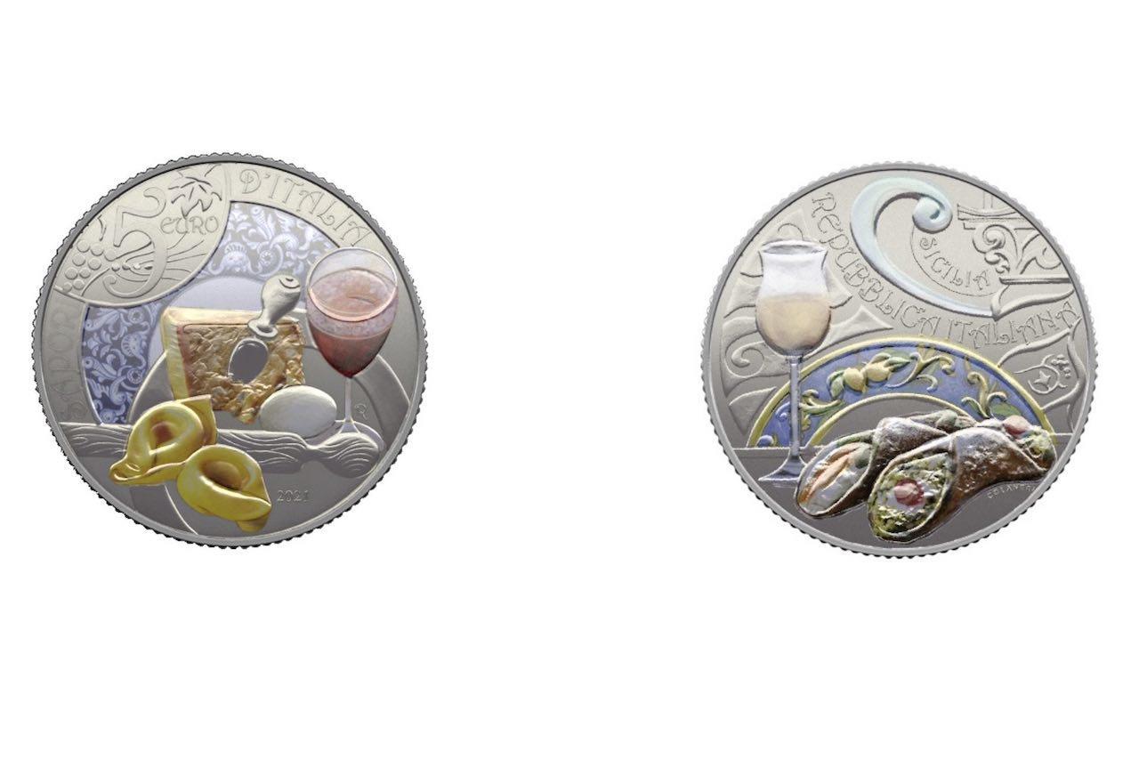 Euro, le eccellenze enogastronomiche di Emilia Romagna e Sicilia nella collezione 2021