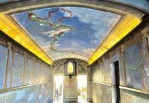 Passetto del Biscione, l'interno con il quadro della Madonna