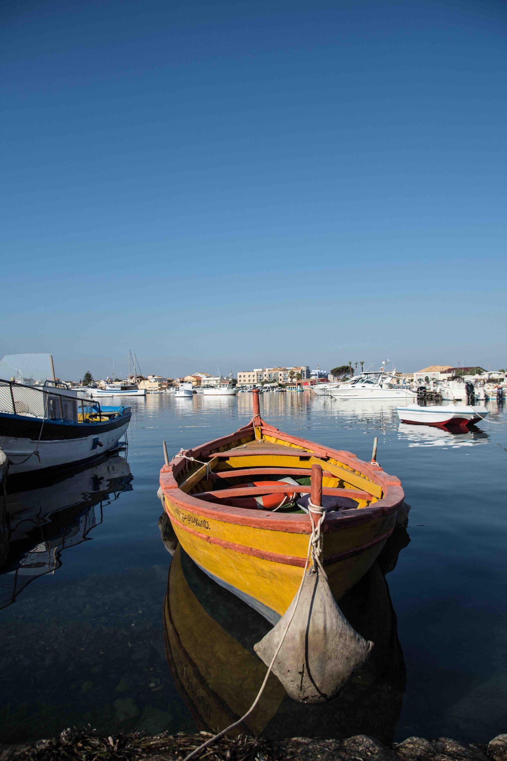 Barca al porto di Marzamemi