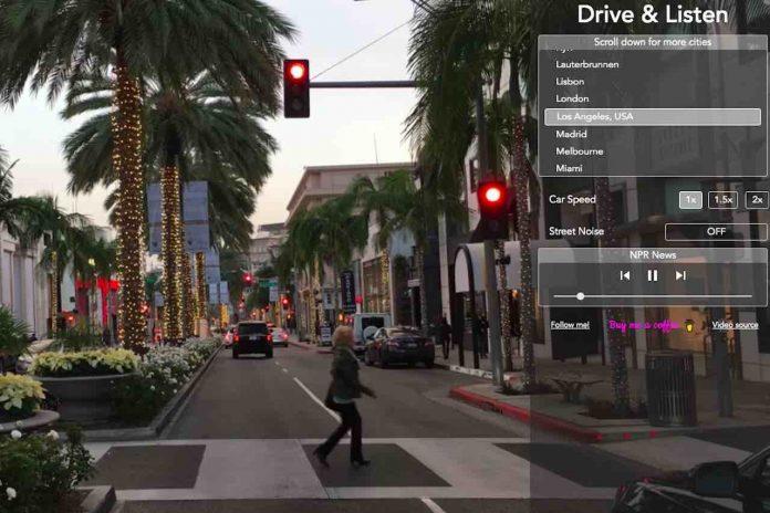 Drive & Listen, una schermata della città di Los Angeles