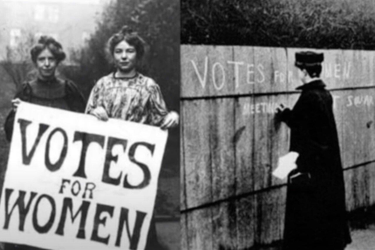 Festa della donna, proteste per ottenere il diritto di voto