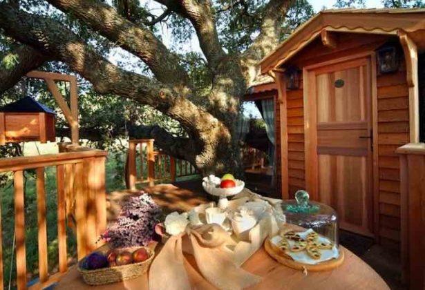 Colazione su una casa sull'albero