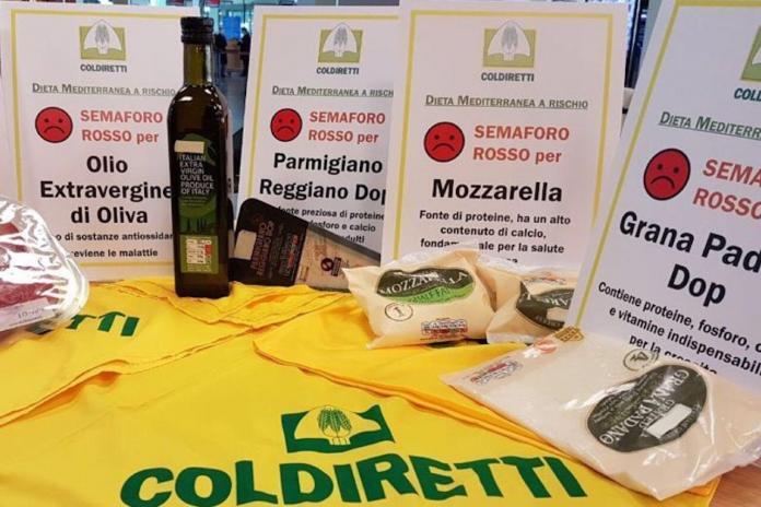 Dieta mediterranea, prodotti minacciati da bollino rosso