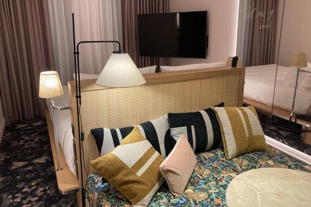 Mama Shlelter Roma, una camera da letto con divano