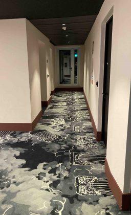 Corridoio di Mama Shelter Roma